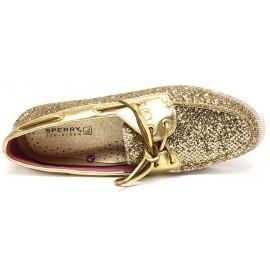 Sperry Gold Glitter Pat
